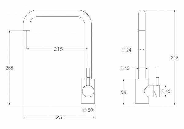 Смеситель для кухни Slovarm ES.3508.FE