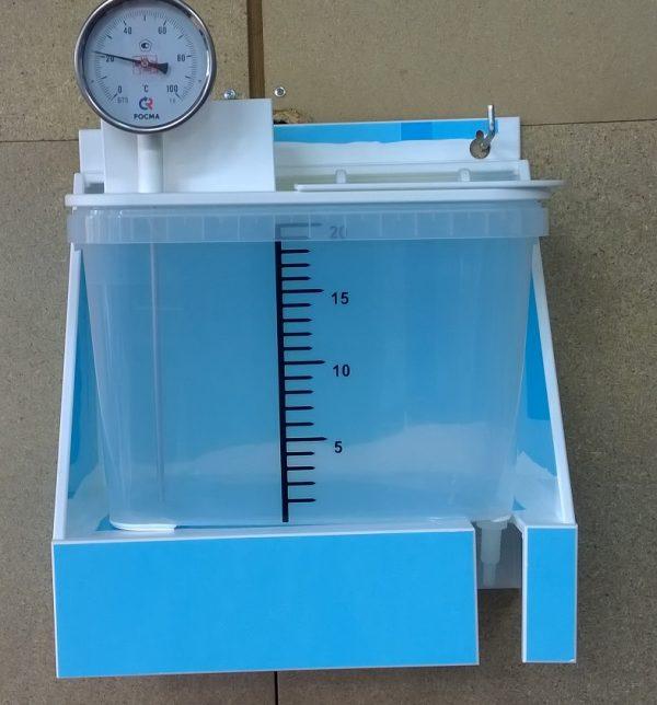 Дозатор полипропиленовый настенный с термометром