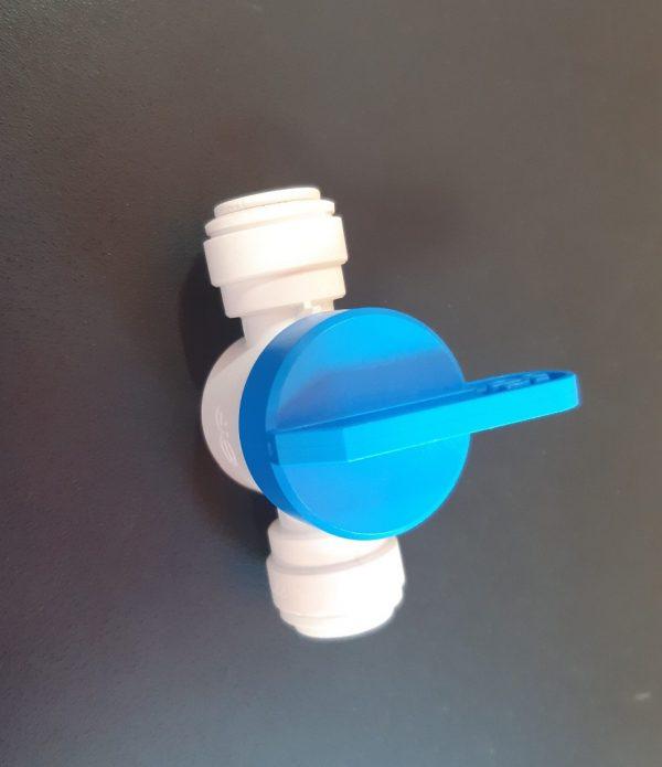 Купить кран пластиковый для регулирования подачи/перекрытия воздуха к пузырьковой решетке vod-58